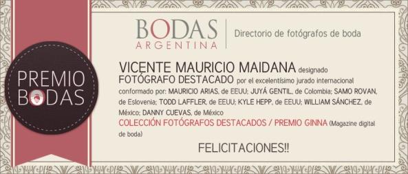 Vicente-Mauricio-Maidana-distintivo-premio-Bodas-Argentina